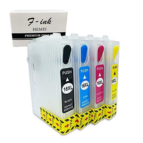 HEMEI 16XL leere wiederaufladbare Tintenpatrone, kompatibel mit Workforce...