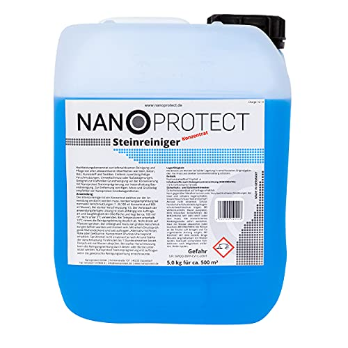 Nanoprotect Steinreiniger Konzentrat | 5 kg für ca. 500 m² | Intensivreiniger...