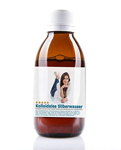 Kolloidales Silber Hochrein 100ppm Silberwasser - 1000ml in brauner...