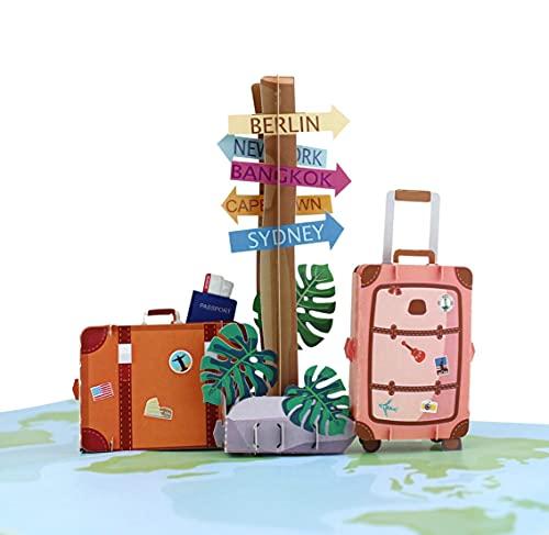 MOKIO® Pop-Up Reisegutschein – 3D Gutscheinkarte zum Urlaub, Geburtstag oder...