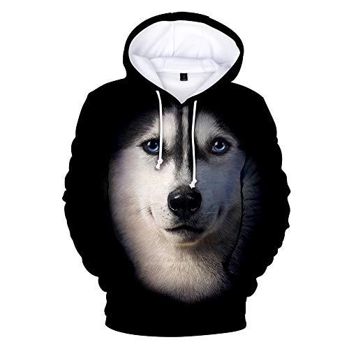 WQWQ Herren Hoodie, Deutscher Schäferhund Print Pullover, 3D Print Slim Fit,...
