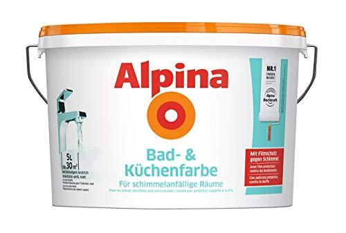 Alpina 5 L. &10 L. weiße Wandfarben für Innen, verschiedene Eigenschaften (5...
