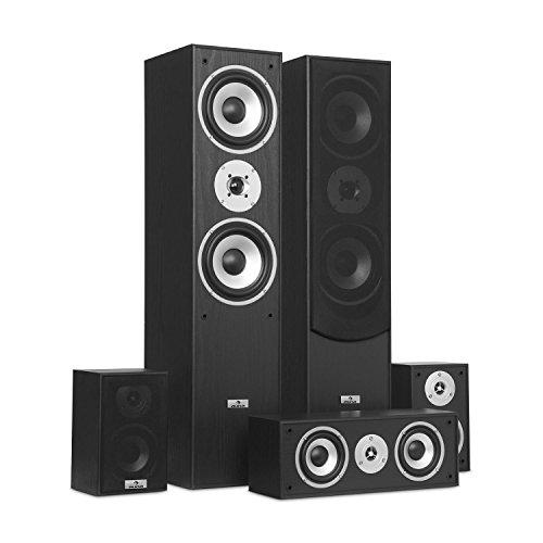 auna Surround - Lautsprecher Boxen Set, Surround Sound-System, Heimkinosystem,...