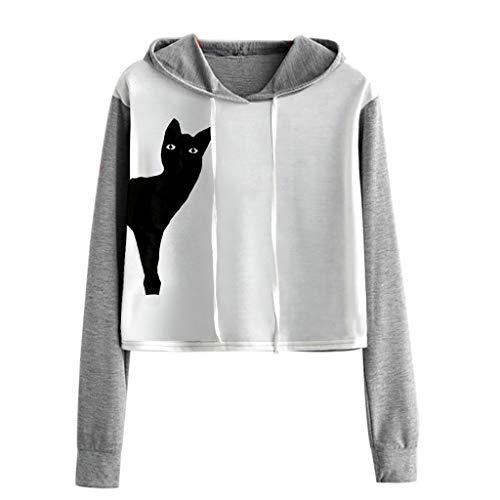 """Evansamp Damen Kapuzenpullover mit Aufdruck """"I'm a Cat"""", kurz, für Mädchen..."""