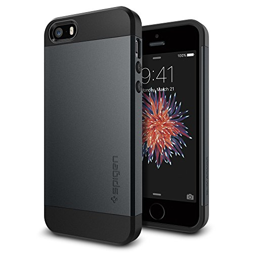 Spigen Slim Armor Kompatibel mit iPhone SE 2016/5S/5 Hülle Doppelte...