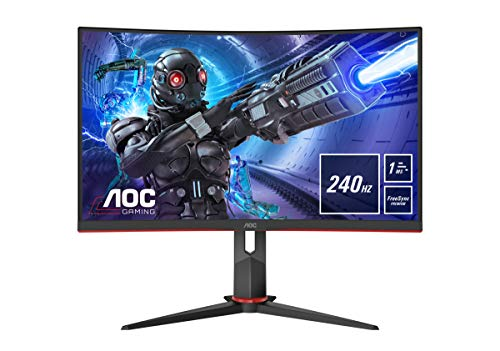 AOC Gaming C32G2ZE - 32 Zoll FHD Curved Monitor, 240 Hz, 1ms, FreeSync Premium...