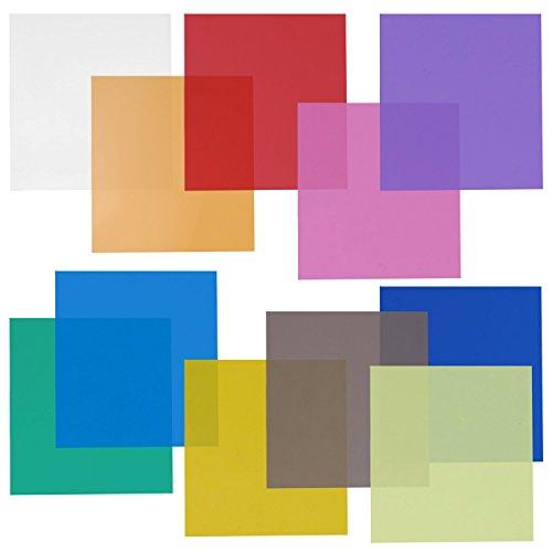 Neewer 12x12 Zoll Transparent Gel Farbfilter Set mit 11 Blatt für Fotostudio...
