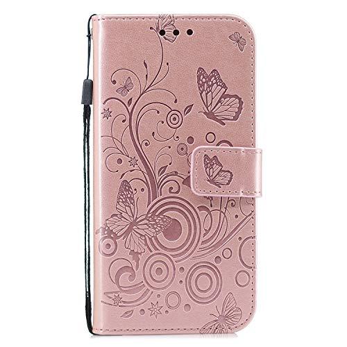 Docrax Huawei P8 Lite 2017 Handyhülle, Hülle Leder Case mit Standfunktion...