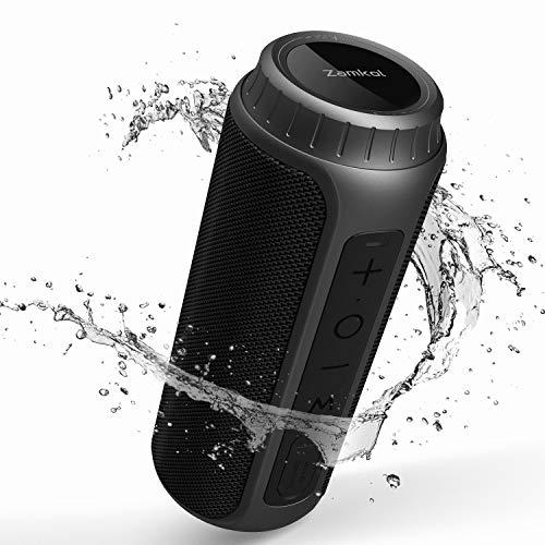 Zamkol 30W Bluetooth Lautsprecher, IPX6 Wasserdichter Wireless tragbarer TWS...