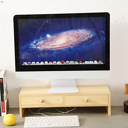 Holz Monitorständer Screen Riser,universal Desk Monitor Halter,Desk Organizer...