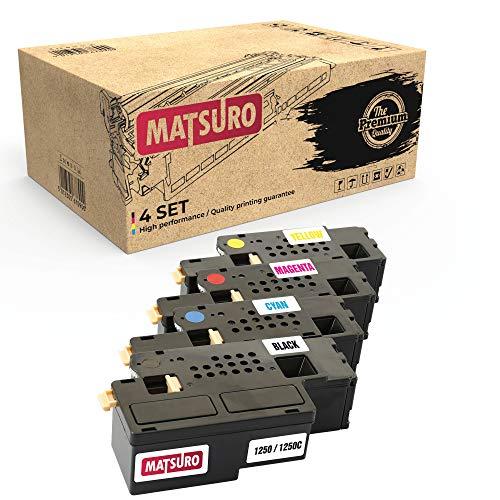 Matsuro Original   Kompatibel Tonerkartusche Ersatz für Dell 1250 1250C (1 Set)