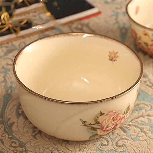 Gxy Keramikschüssel Suppenschüssel mit Goldstreifen Küchenutensilien...