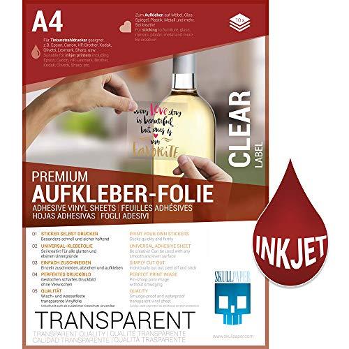 SKULLPAPER® Klebefolie transparent zum aufkleben und selbst gestalten - für...