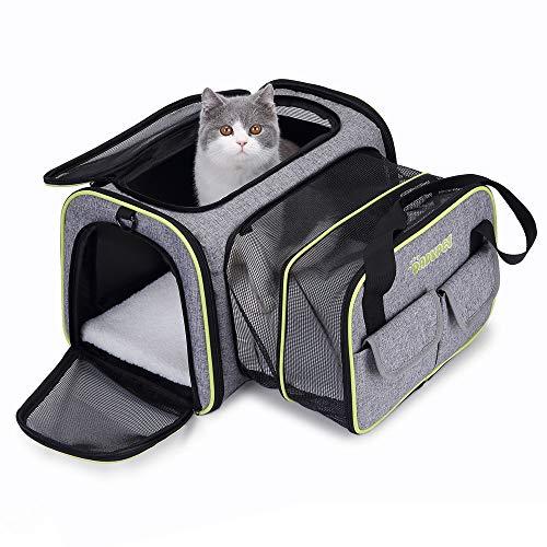 DADYPET Transporttasche Katze und Kleine Hunde, Katzentransportbox Katzen...