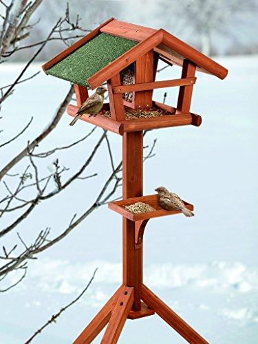 BUSDUGA - Vogelhaus/Futterhaus aus Holz mit Futtersilo 121 x 45 x 30cm, sehr...
