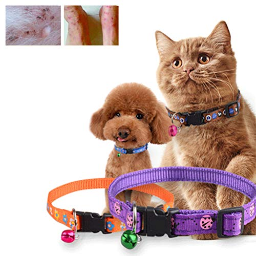 Kampre Pet Cat Leash Flohhalsband Verstellbares Cat Collar Entwurmungsfloh Quick...