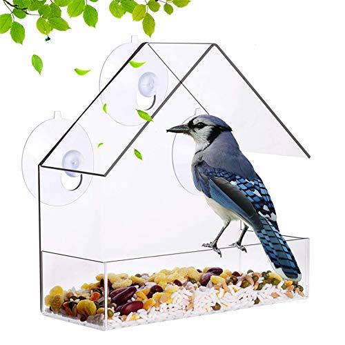 chunnron Vogelhaus Balkon Vogelhaus Fenster Vogelhäuschen-Fenster-Saughaken...
