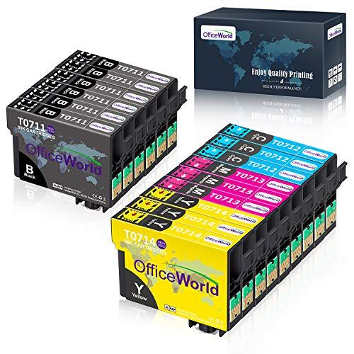 OfficeWorld Ersatz für Epson T0711 T0712 T0713 T0714 T0715 Patronen Kompatibel...