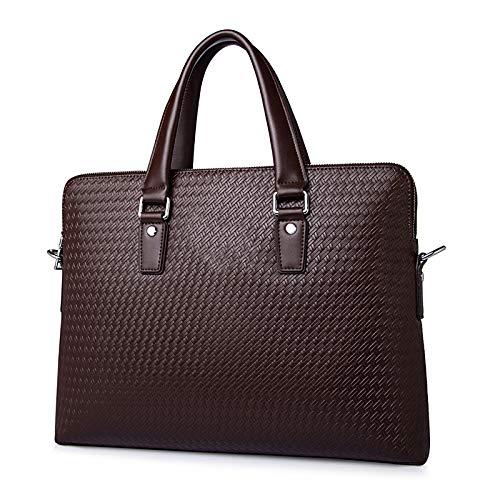 YOGAA Herren Handtasche 13 Zoll Laptoptasche wasserdicht große Aktentasche für...