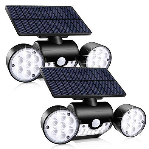 Xigeapg Au?En Solar Leuchten, 30 LED Solar Sicherheits Leuchten mit Bewegungs...