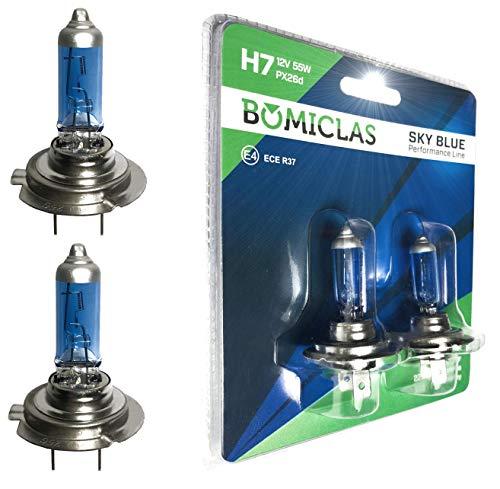 BOMICLAS H7 XENON Optik Lampe, SKY BLUE Performance Line, 12V 55W, Halogen...