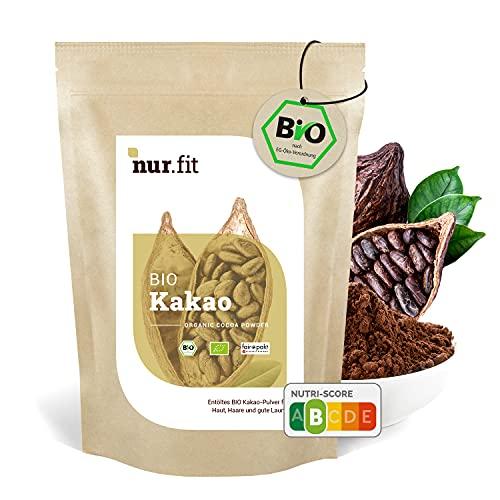 nur.fit BIO Kakaopulver 1kg – rein natürliches Kakao-Pulver aus Kakaobohnen...