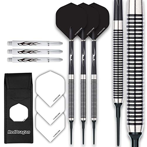Red Dragon Pegasus Soft Tip: 20g - Tungsten Darts (Dartpfeile) Set Mit Black...