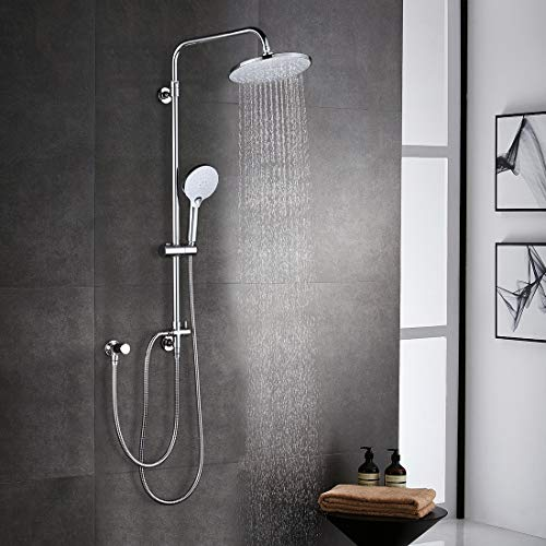 ARCORA Duschsystem ohne Armatur Regendusche Set Duschset Chrom Duschsäule...