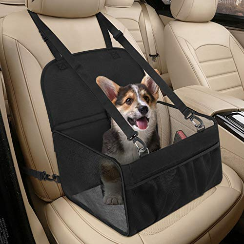 Hunde Autositz für Kleine Hunde, Atmungsaktiv Starkes Hundeautositz Hundesitz...
