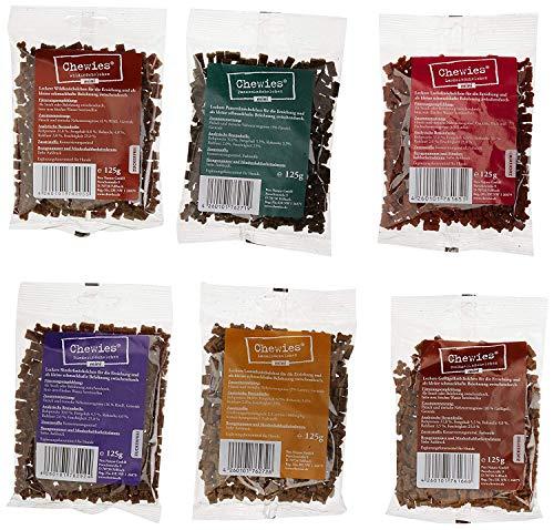 Chewies Hundeleckerli Mix - 6 x 125 g - Rind, Pansen, Geflügel, Lamm, Wild &...
