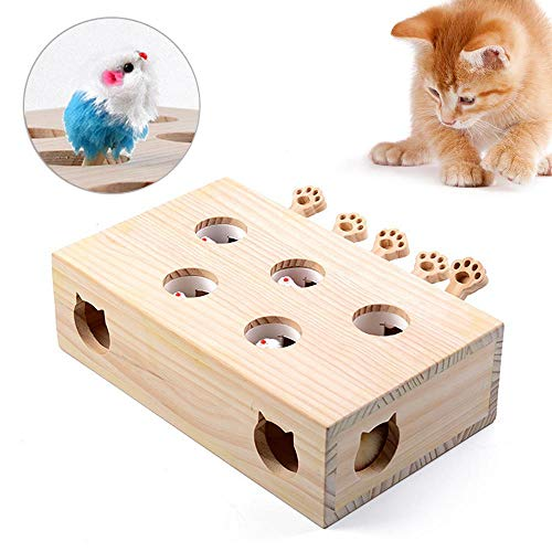 Volwco Interaktives Spielzeug für Katzen, lustiges Jagdspielzeug, massives...