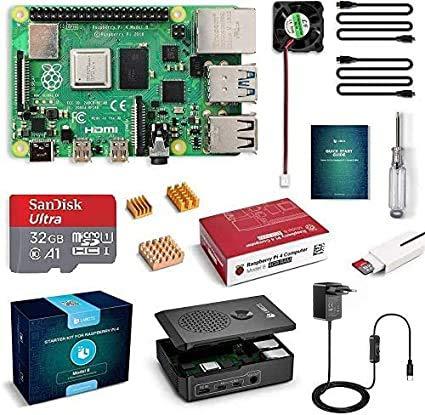LABISTS Raspberry Pi 4 Model B 4 GB Ultimatives Kit mit 32GB Class10 Micro...