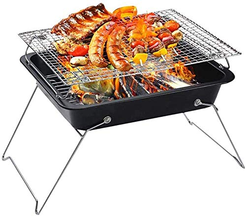KAYBELE Faltender tragbarer Holzkohle-Grillherd Outdoor Camping Patio BBQ Grill