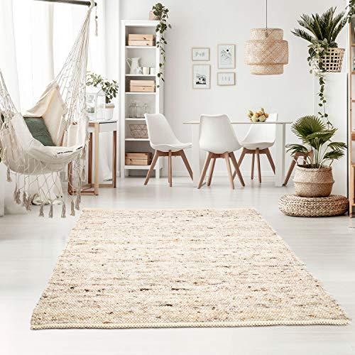 Taracarpet Handweb-Teppich Oslo Wolle im Skandinavischem Landhaus Design...