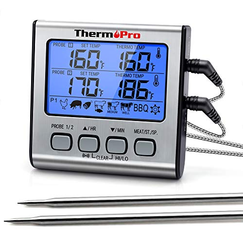 ThermoPro TP17 Digitales Grill-Thermometer Bratenthermometer Fleischthermometer...