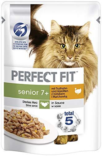 Perfect Fit Katzenfutter Nassfutter Senior 7+ mit Truthahn und Karotten in...