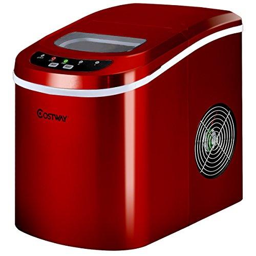 COSTWAY Eiswürfelmaschine Ice Maker, Eismaschine, Eiswürfelbereiter inkl....