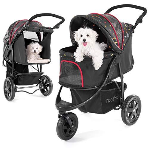 TOGfit Pet Roadster - Luxus Hundewagen & Haustier Buggy bis 32 kg - große...
