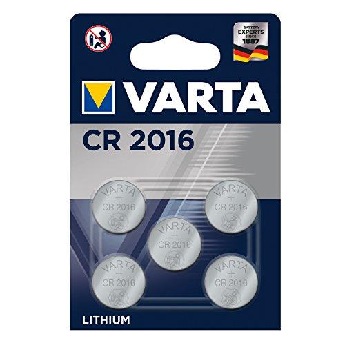 Varta Batterien Electronics CR2016 Lithium Knopfzelle 3V Batterie 5er Pack...