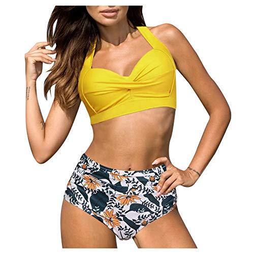 Shineshae Damen Bademode Bikini Set Badeanzug Rückenfrei Elegant Verstellbarer...