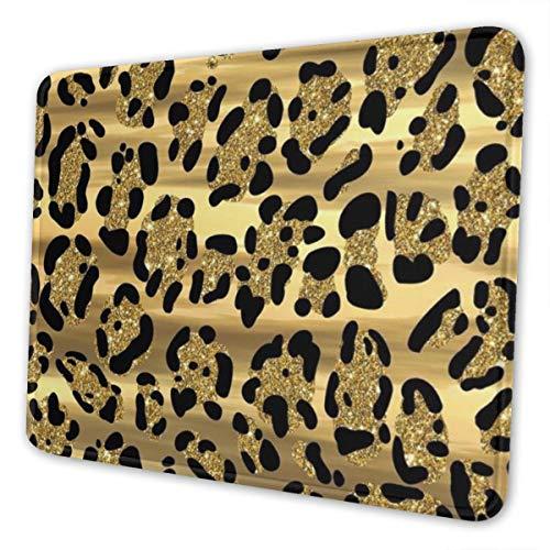 CLERO & Mauspads Gold Leopardenmuster Schwarz Golden Gaming Mauspad...