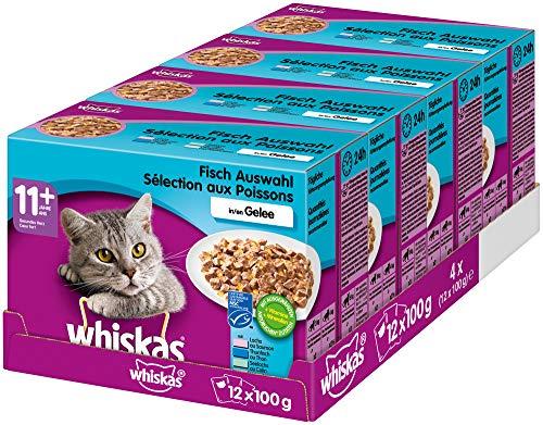Whiskas 11 + Katzenfutter – Fleischauswahl in Gelee – Leicht verdauliches...