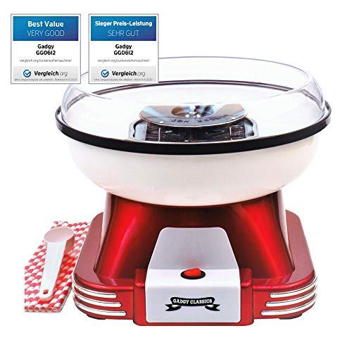 Gadgy ® Zuckerwattemaschine für Zuhause   Retro Cotton Candy Machine   mit...