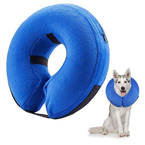Frifer Aufblasbar Halsband für Haustier Hund Katze Kragen Schutz Einstellbar...