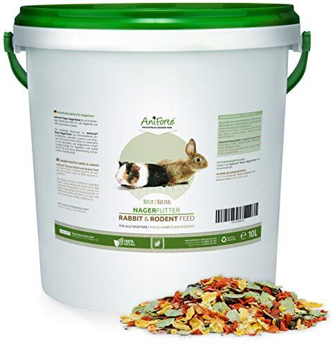 AniForte Natur Nagerfutter 10 Liter für Nager, Hamster, Meerschweinchen,...