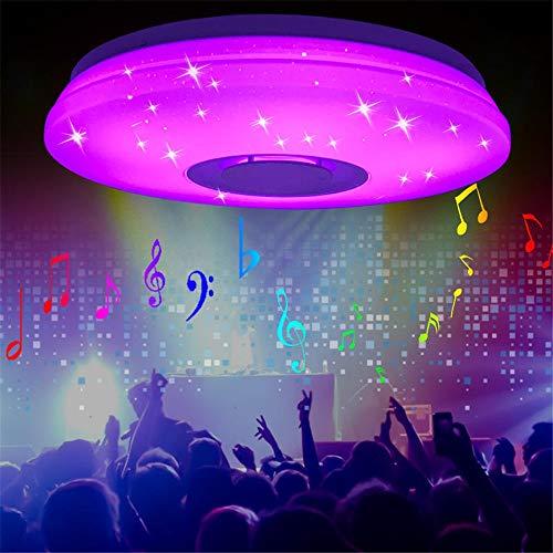 AFCITY Deckenleuchte Moderne LED-Deckenleuchte Bluetooth Musik-Lautsprecher RGB...