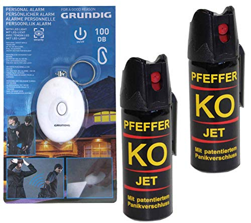 BALLISTOL Verteidigungsspray Pfeffer KO Jet 2 Dosen mit je 50 ml Pfefferspray...