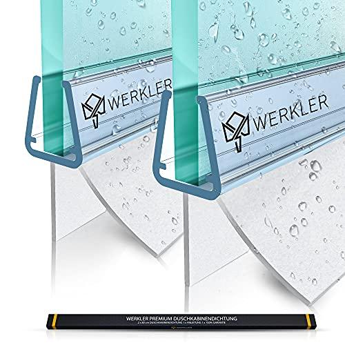 Werkler® Original Duschdichtung [DOPPELPACK] - 2x 80cm Duschtürdichtung für...