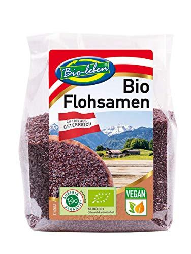 BIO schwarze Flohsamen aus Österreich, Psyllium, ballaststoffreich, glutenfrei,...