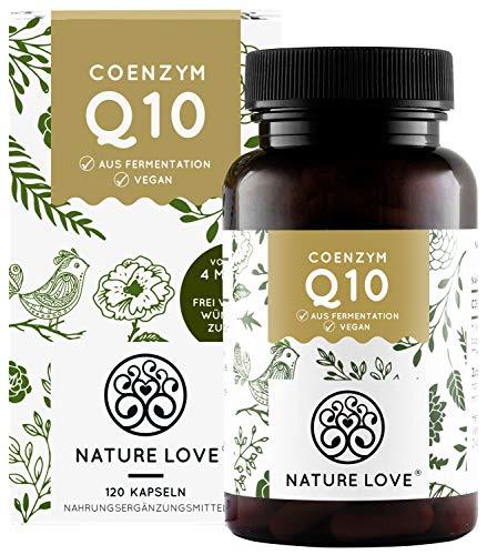 NATURE LOVE® Coenzym Q10 Hochdosiert - 200mg pro Kapsel. 120 vegane Kapseln im...